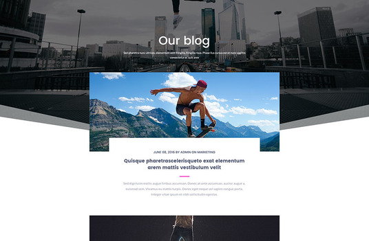I will create a beautiful website blog page