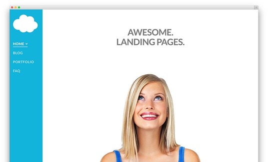 I will create an awesome landing page for your website