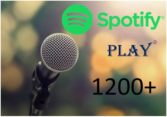 I will provide 1200+ Spotify plays