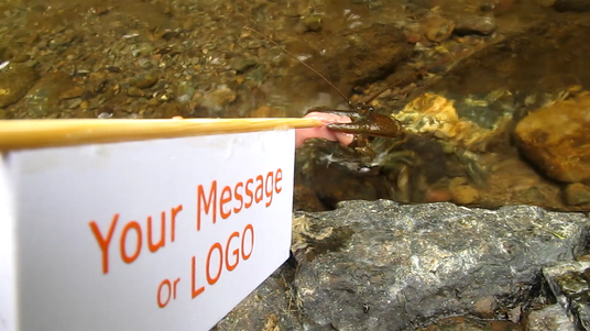 feed crayfish with your message or logo