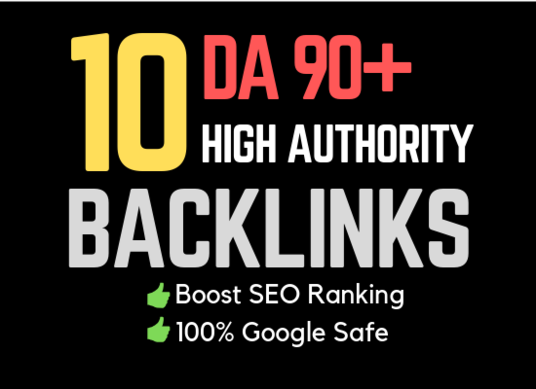 I will Provide 10 Powerful High Da Backlinks For Fast Ranking