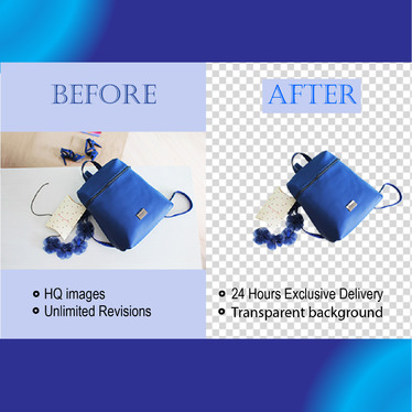 Professionally remove the Background from your Images