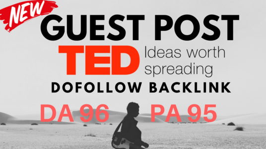 Write & Publish A Guest Post on TED.com Dofollow DA 96