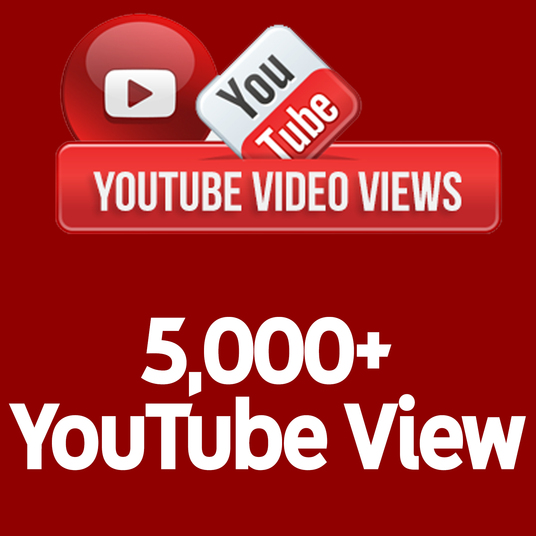 I will send 5,000+ Real Human Active YouTube Views