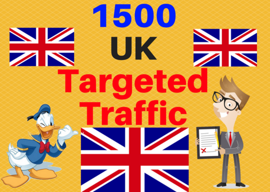 I will Provide 1500 UK Targeted traffic to your web or blog site