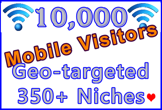 I will Send 10,000 Geo-targeted and Niche-targeted Genuine Human Mobile Visitors