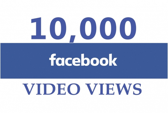 I will provide 10k facebook video views