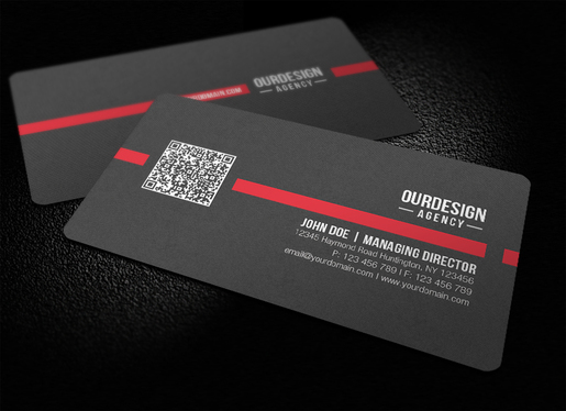 design a business card with qr code