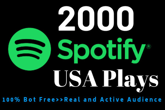 I will Give 2000+ Spotify Plays