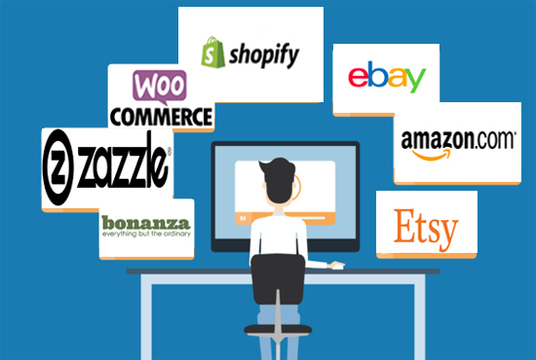 I will upload products On your Shopify, Woocommerce or Ebay store