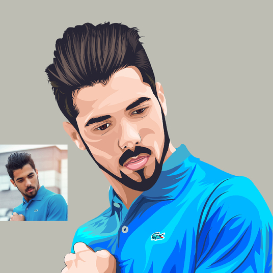 I will make a cartoon portrait of your photo