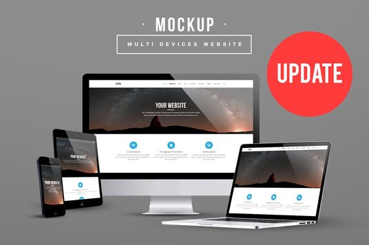 I will Make 20 Multi Devices Responsive Website Screen Mockup
