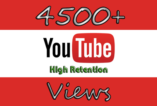 I will Provide 4500 Youtube Video Views and 50 likes