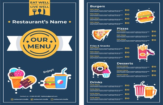 I will Design Your New Restaurant Menu & Poster