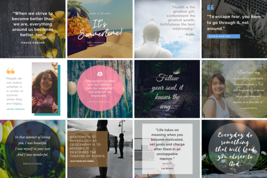 I will Design 50 Inspirational Quotes For Instagram