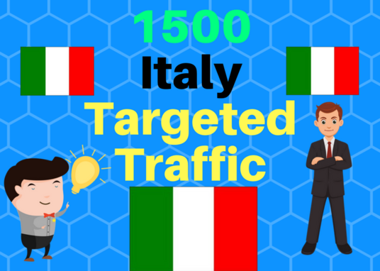 I will Provide 1,500 Italy Web Traffic Visitors