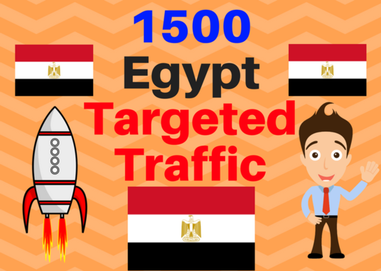 I will Send 1500 Egypt web targeted traffic