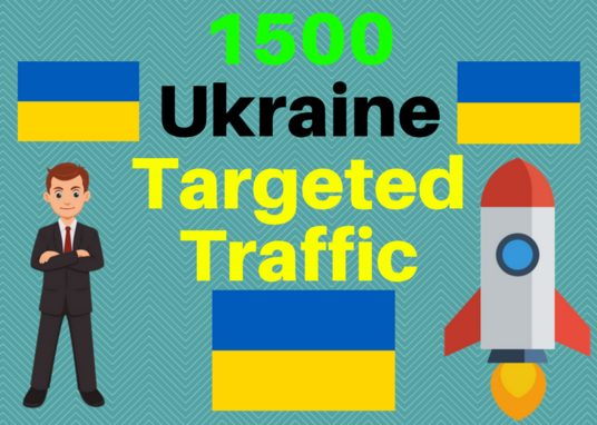 I will Send 1500 Ukraine web targeted traffic