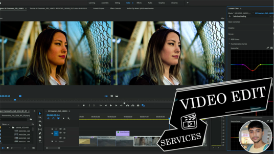 I will Do Professional Cinematic Video Editing For You