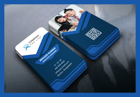 design business cards with two concepts