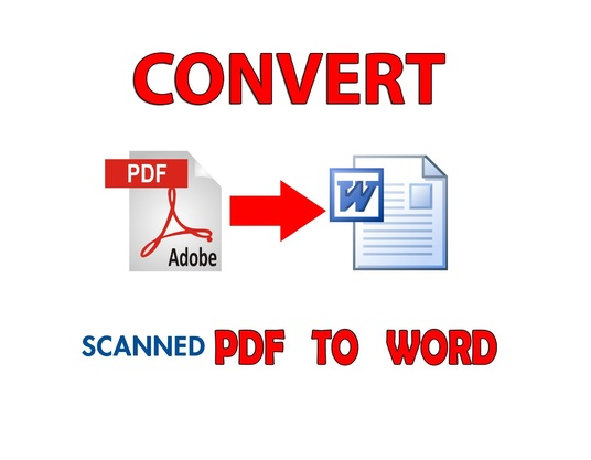 I will convert up to 25 pages of scanned PDF to MS Word