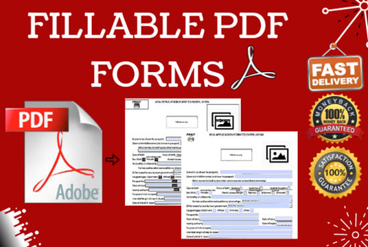 I will Create Interactive Fillable Pdf Form