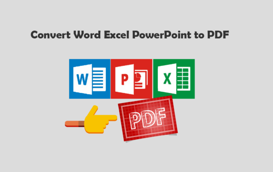 Convert Word, Excel, or PowerPoint to PDF
