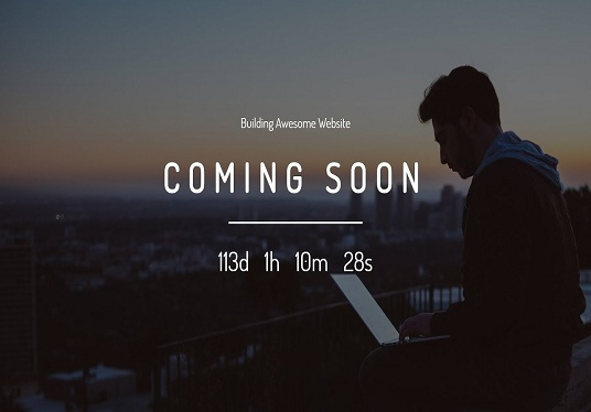 make Coming soon or Under construction page