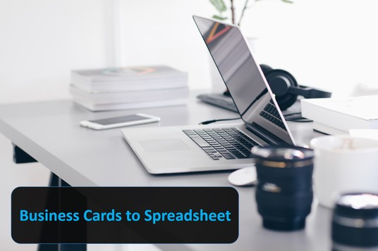 enter 100 business cards into a spreadsheet