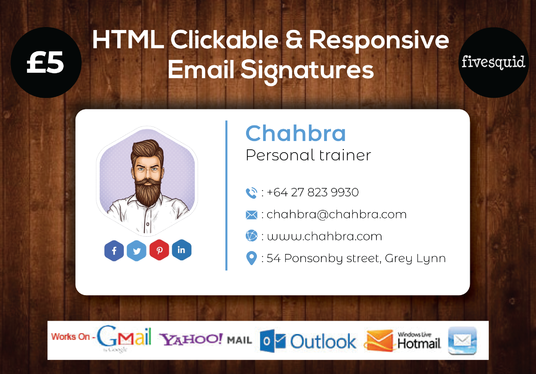 I will Create Clickable Html Email Signature