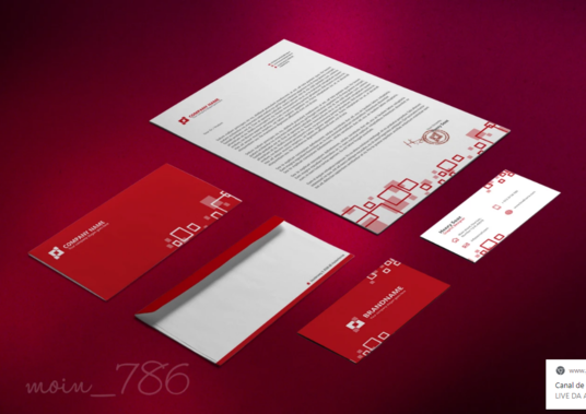 I will Design Business Card, Stationery, Letterhead, Envelope