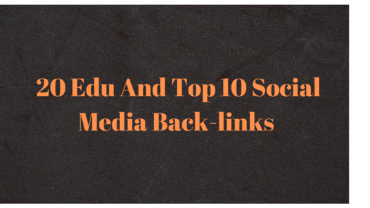 I will Create 20 Edu and Top 10 Social Media Sites Back-links