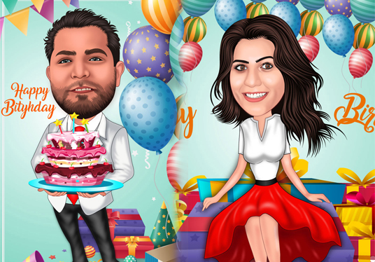 draw Cartoon Caricature For Your birthday