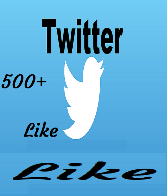 I will give you 500+ Twitter Likes