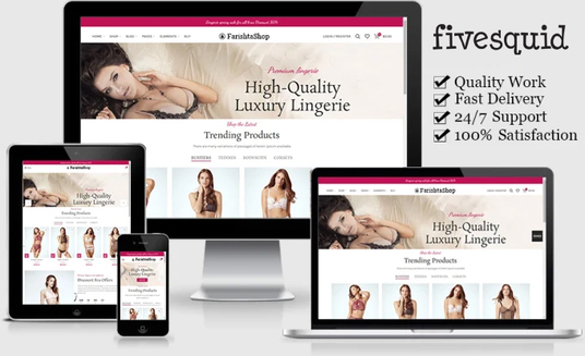 I will create a unique and responsive website