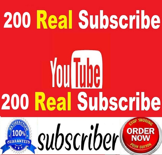 I will provide 200 Real youtube subscribers