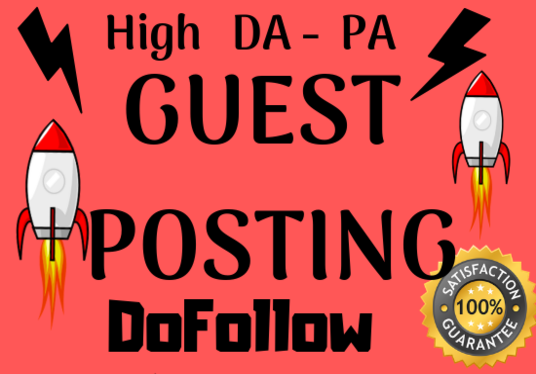 I will Write 4 HQ Guest Posts  with a Dofollow Backlink