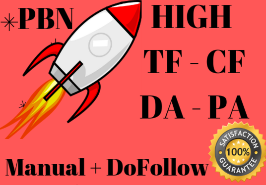I will create 25 PBN Backlinks with High TF CF DA PA Dofollow Links