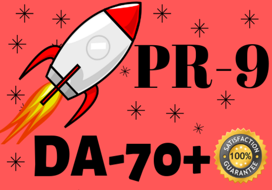 I will Create 25 DA70 - 100  PR9 high authority  backlinks with unique article submission and Ind