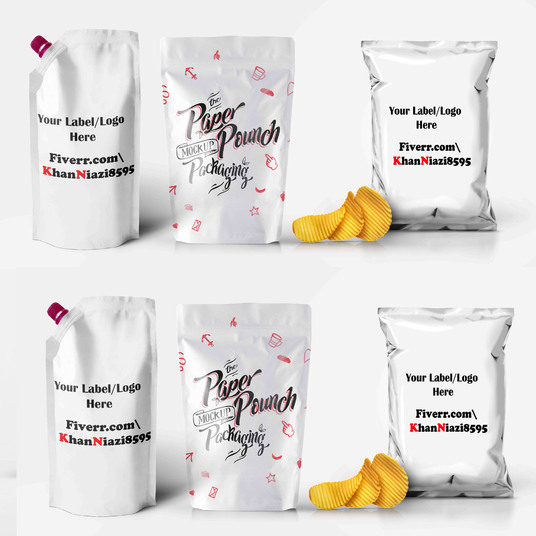 I will Do Pouch & Bag design mockup