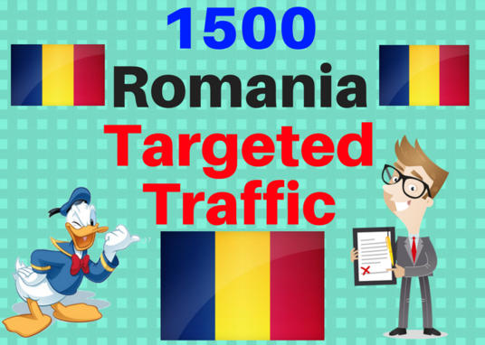 I will Provide 1,500 ROMANIA Web Traffic Visitors
