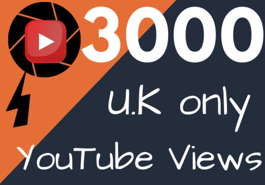 I will deliver 3000 YouTube views from UK