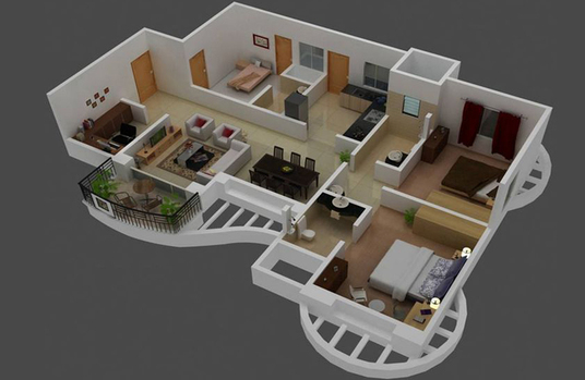 I will do Interior, Exterior and 3D Floor Plan