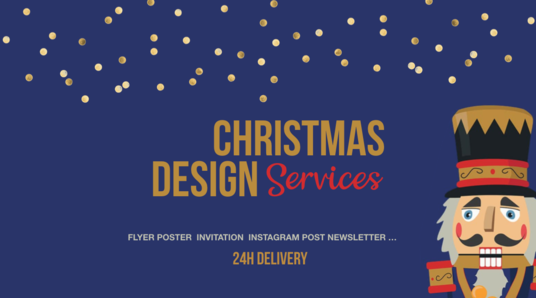 I will create a Christmas Design Flyer Sale, Invitation or Giftcard