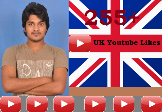 I will add 255+ UK Targeted Youtube Video Likes