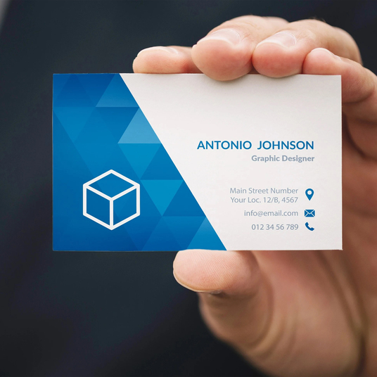 I will do business card design with custom logo