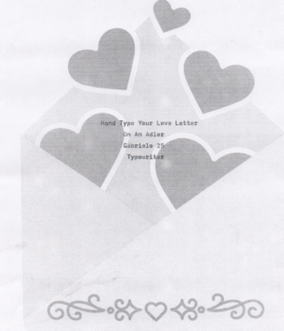 hand-type your love letter, message or quote
