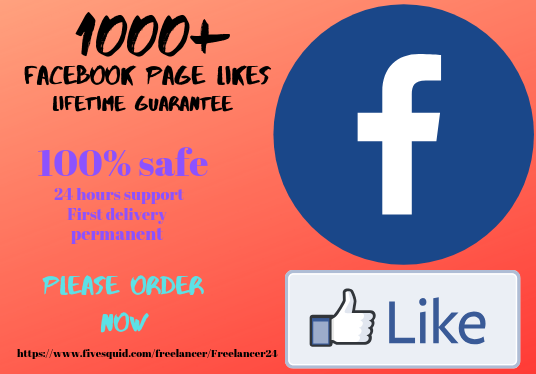 I will Provide You Real 1000+ FaceBook Fan Page Likes Guaranteed