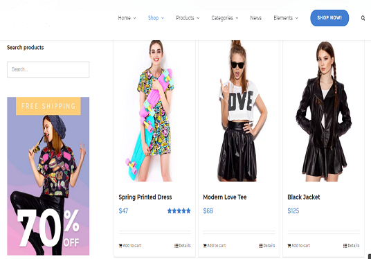 create an eCommerce website, woo-commerce website, an online store
