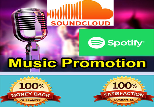 I will Do High Quality Organic Music Promotion For Your Spotify or Soundcloud Music